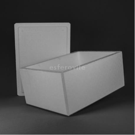 Caixa Esferovite com tampa 780x570x370mm
