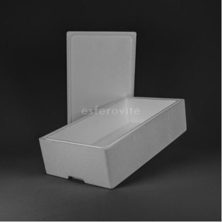 Caixa Esferovite com tampa 750x420x210mm
