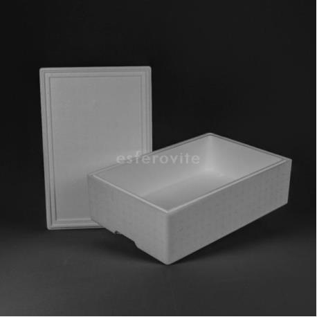 Caixa Esferovite com tampa 600x400x200mm