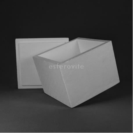 Caixa Esferovite com tampa 375x375x290mm