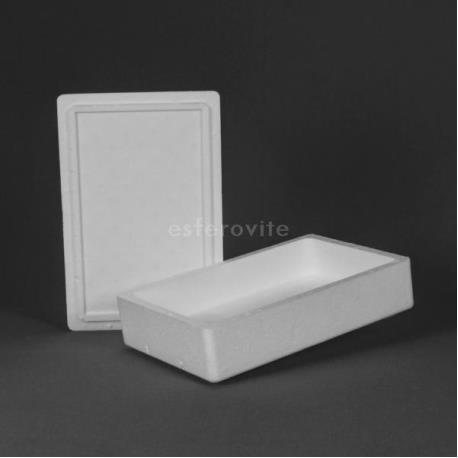 Caixa Esferovite com tampa 350x230x90mm