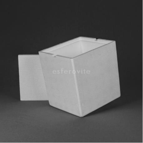 Caixa Esferovite com tampa 260x240x270mm
